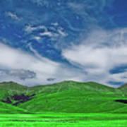 Green And Blue Landscape Art Print