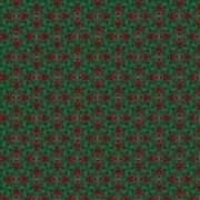 Green And Brown Chunky Cross Mirror Pattern Art Print