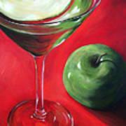 Green Apple Martini Art Print