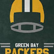 Green Bay Packers Vintage Art Art Print