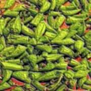 Green Bean Tips Art Print