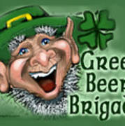 Green Beer Brigade Art Print
