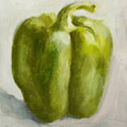 Green Bell Pepper Art Print