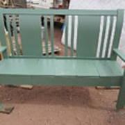 Green Bench Art Print