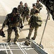 Green Berets Board A C-130h3 Hercules Art Print