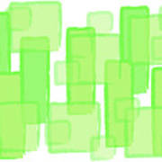 Green Boxes  Art Print