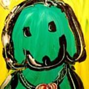 Green Dog Art Print