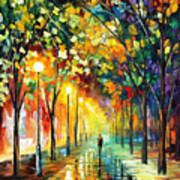 Green Dreams - Palette Knife Oil Painting On Canvas By Leonid Afremov Art Print