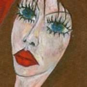 Green Eyed II  Art Print