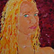Green Eyed Lady  Art Print