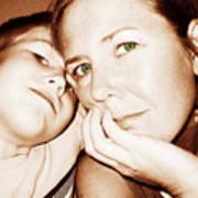 Green Eyed Mom Art Print