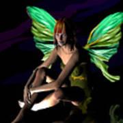 Green Fairie Art Print