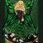 Green Fairy Of Poison Art Print