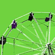 Green Ferris Wheel Art Print