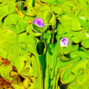 Green Fluidity Art Print