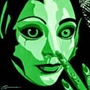 Green Forest Fairy Art Print