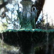 Green Fountain Art Print