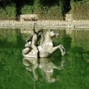 Green Fountain Art Print