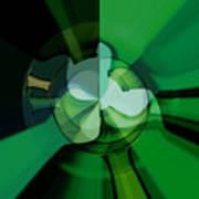 Green Glass Wheels Art Print