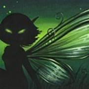 Green Glow Art Print by Elaina  Wagner
