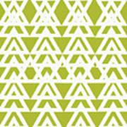 Green Graphic Diamond Pattern Art Print