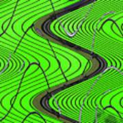 Green Grass Behind The Fence Art Print