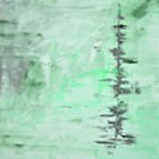 Green Gray Abstract Art Print