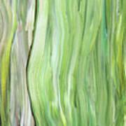 Green Gray Organic Abstract Art For Interior Decor Vi Art Print