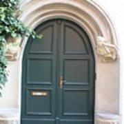 Green Guarded Door Art Print