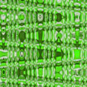 Green Heavy Screen Abstract Art Print