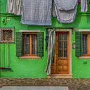 Green House And Hanging Wash_dsc5111_03042017 Art Print