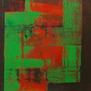 Green Interlock Art Print