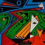 Green Jag 36x48 Art Print