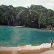 Green Lagoon Art Print