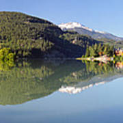 Green Lake Whistler Panorama Art Print