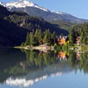 Green Lake Whistler  Art Print