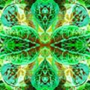 Green Leafmania 3 Art Print