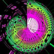 Green-magic-wheel Art Print