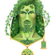 Ivy Green Man Art Print