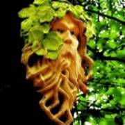 Green Man Art Print by Jen White