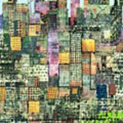 Green Metropolis  Art Print