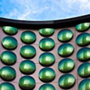 Green Polka-dot Curve Art Print