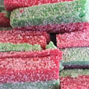 Green Red Sugary Sweet Art Print