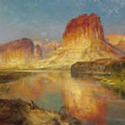 Green River Of Wyoming Print by Thomas Moran