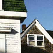 Green Roof Stonington Deer Isle Maine Coast Art Print