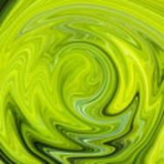 Green Swirl Art Print
