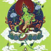 Green Tara Art Print by Carmen Mensink
