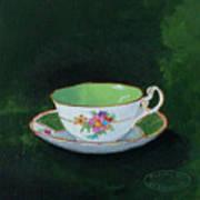 Green Teacup Art Print