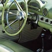 Green Thunderbird Wheel And Front Seat Art Print