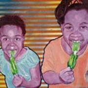 Green-tongued Cousins 2014 Art Print